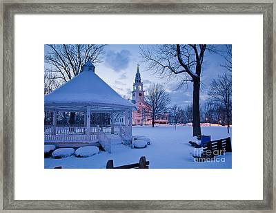 Dusk In Templeton Framed Print by Susan Cole Kelly