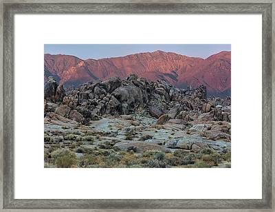 Framed Print featuring the photograph Dusk In The Alabama Hills by Stuart Gordon