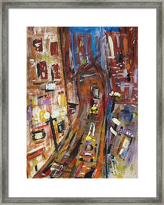 Dusk In The City Framed Print by Mary Carol Williams
