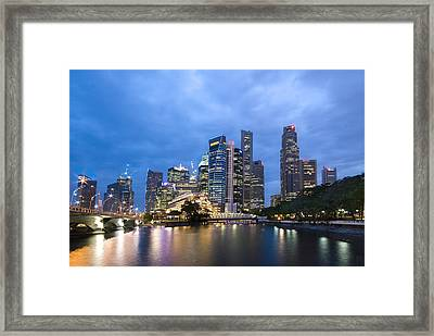 Dusk In The City Framed Print by Ng Hock How