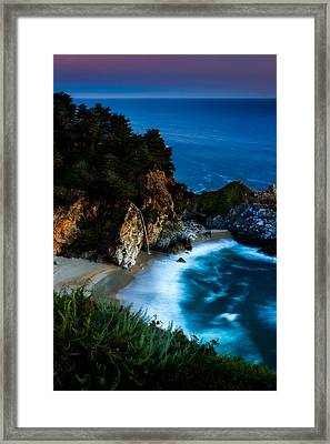 Dusk In The Cove Framed Print