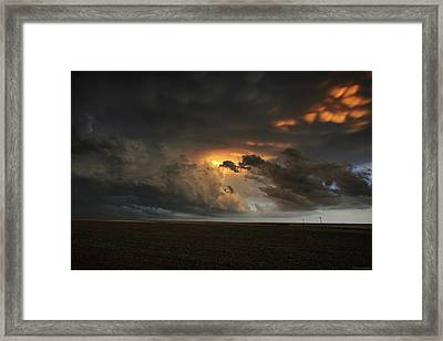 Dusk In The Great Plains Framed Print by Brian Gustafson