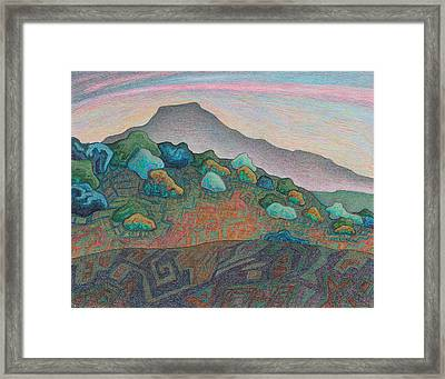 Dusk In The Valley Of The Shining Stone Framed Print