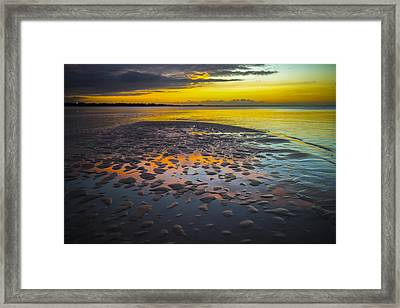 Dusk On Cayo Coco Framed Print by Valerie Rosen