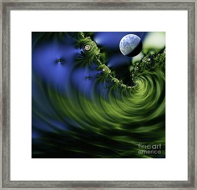 Dusk On Julia Sea Framed Print by Mindy Sommers