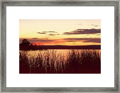 dusk on Lake Superior Framed Print