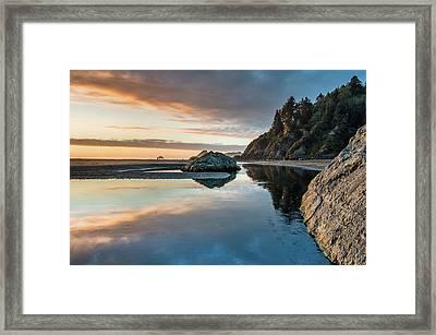 Dusk On Little River Framed Print by Greg Nyquist