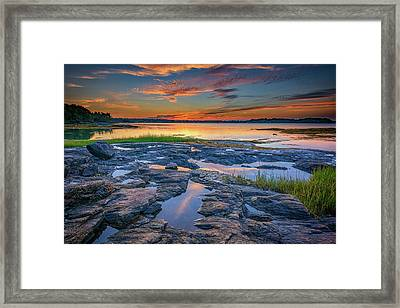 Framed Print featuring the photograph Dusk On Littlejohn Island by Rick Berk