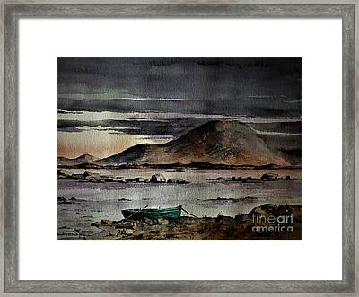 Dusk On Nephin, Cullen, Mayo Framed Print by Val Byrne