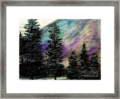 Dusk On Purple Mountain Framed Print
