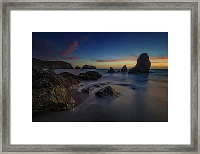 Dusk On Rodeo Beach Framed Print