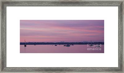 Dusk On The Bay Framed Print by Idaho Scenic Images Linda Lantzy