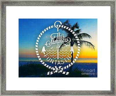 Dusk On The Beach II Framed Print by Chris Andruskiewicz