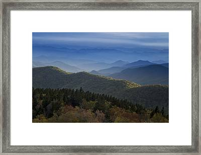 Dusk On The Blue Ridge Parkway Framed Print by Andrew Soundarajan