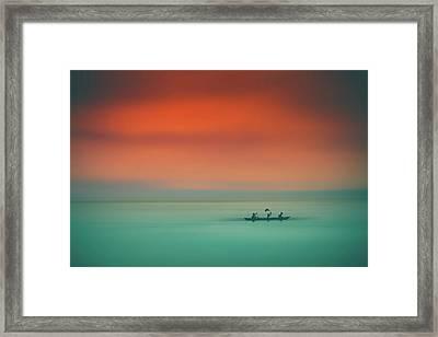 Dusk On The Lake Framed Print