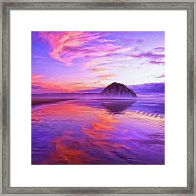 Dusk On The Morro Strand Framed Print