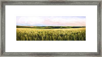 Dusk On The Palouse IIi Framed Print
