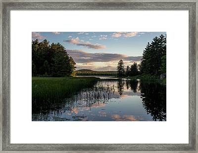 Dusk On The Water Framed Print by Brent L Ander