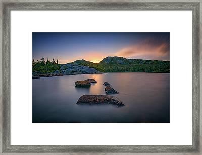 Dusk On Tumbledown Mountain Framed Print