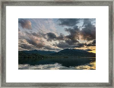 Dusk On Wiskeytown Lake Framed Print by Greg Nyquist