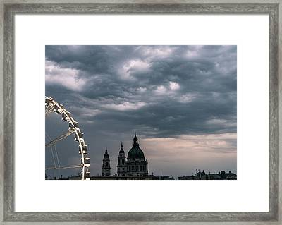 Framed Print featuring the photograph Dusk Over Budapest by Alex Lapidus