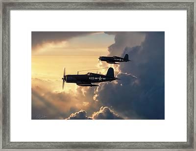 Dusk Patrol Framed Print by Peter Chilelli