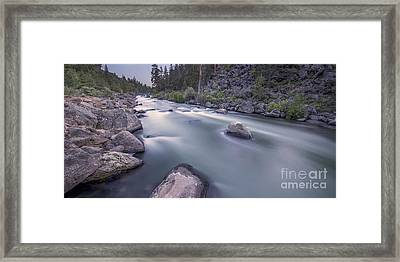 Dusk Rapids Framed Print by Twenty Two North Photography