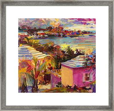 Dusk Reflections Bermuda  Framed Print by Peter Graham