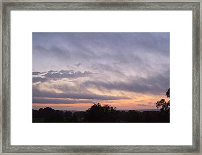 Framed Print featuring the photograph Dusk by Skyler Tipton