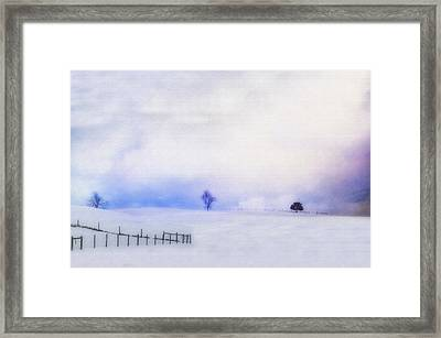 Dusky Snow Framed Print by Kathy Jennings