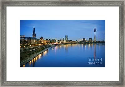 Dusseldorf Skyline  Framed Print