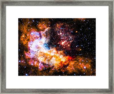 Dust Clouds In Motion. Framed Print by Britten Adams
