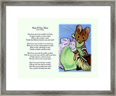 Dust If You Must With Beatrix Potter Mouse Framed Print