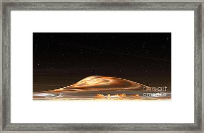 Framed Print featuring the digital art Dust Storm On The Red Planet by Richard Ortolano