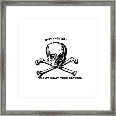 Dust To Dust Tee Black Ink Framed Print