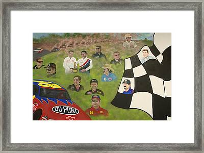 Dust To Glory Framed Print by Charles Hill