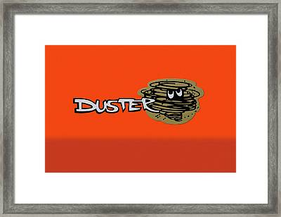 Framed Print featuring the photograph Duster Emblem by Mike McGlothlen