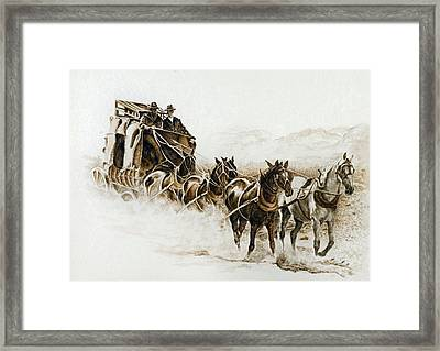 Dusti Trails Framed Print by Traci Goebel