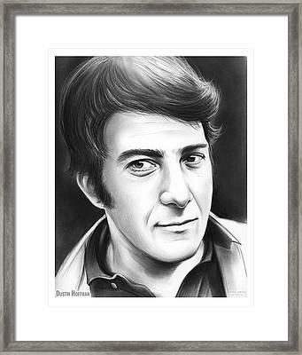 Dustin Hoffman Framed Print by Greg Joens