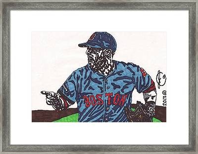 Dustin Pedroia 2 Framed Print by Jeremiah Colley