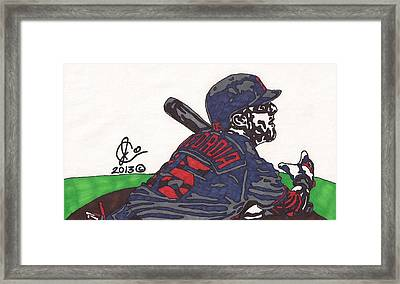 Dustin Pedroia 3 Framed Print by Jeremiah Colley