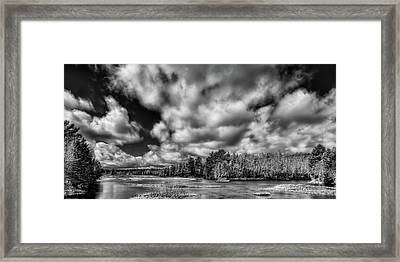 Framed Print featuring the photograph Dusting Of Snow On The River by David Patterson