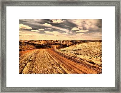Dusty Dakota Road Framed Print