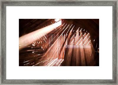 Dusty Rays Framed Print