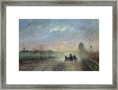 Dusty Road II Framed Print by Mihaly Munkacsy