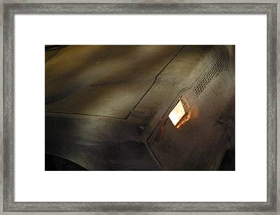 Dusty Road To Nowhere Framed Print by Jez C Self