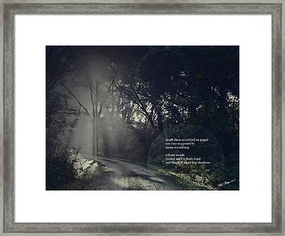 Dusty Road Framed Print by Wild Thing