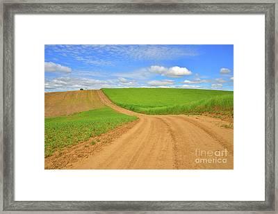 Dusty Roads Framed Print