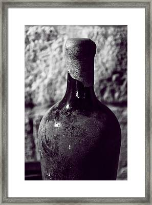 Dusty Vintage Wine Bottle Framed Print by Georgia Fowler