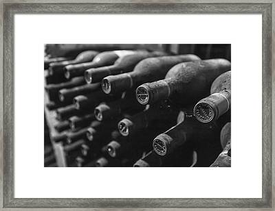 Dusty Wine Bottles Framed Print